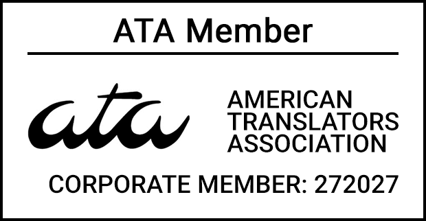ATA Member - Certified Translation - Chinese