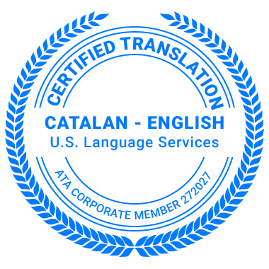 Certified Catalan Translation Services - ATA Corporate Member