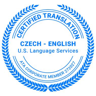 Certified Czech Translation Services - ATA Corporate Member