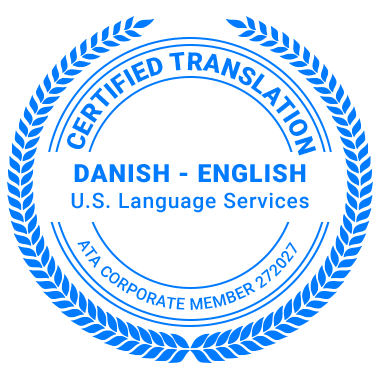 Certified Danish Translation Services - ATA Corporate Member