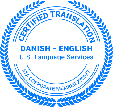Certified Danish Translation