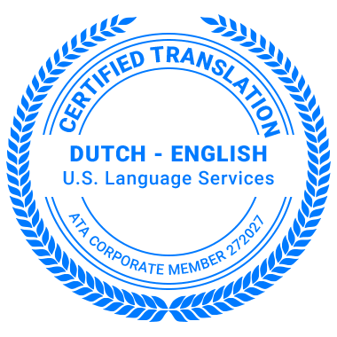 Certified Dutch Translation Services - ATA Corporate Member