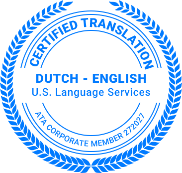 Certified Dutch Translation