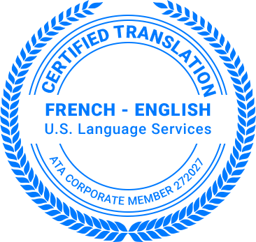 Certified French Translation