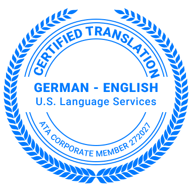 Certified German Translation Services - ATA Corporate Member