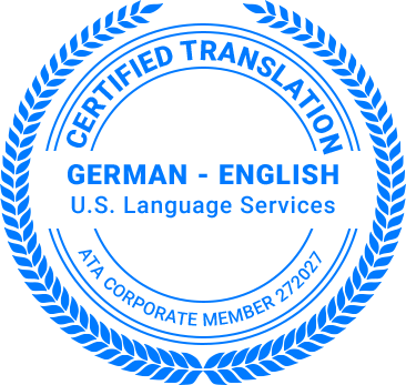 Certified German Translation