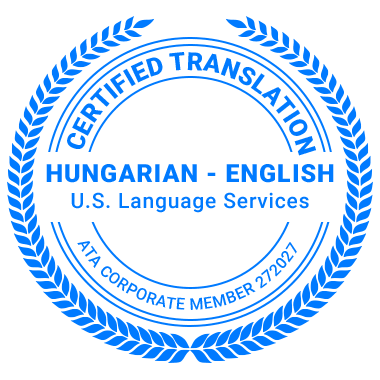 Certified Hungarian Translation Services - ATA Corporate Member