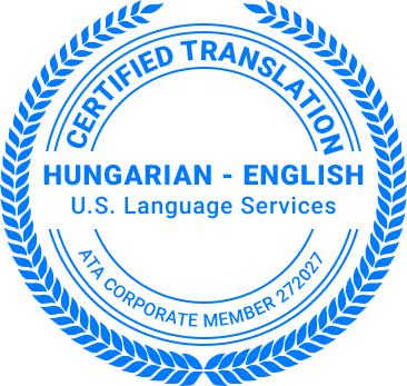 Certified Hungarian Translation