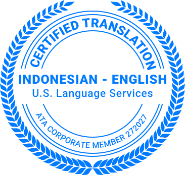 Certified Indonesian Translation