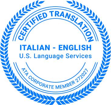 Certified Italian Translation