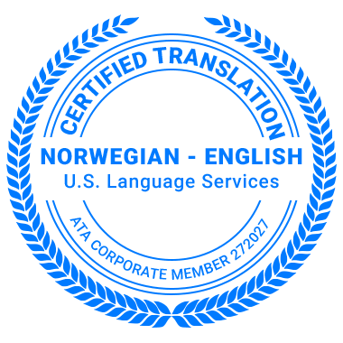 Certified Norwegian Translation Services - ATA Corporate Member
