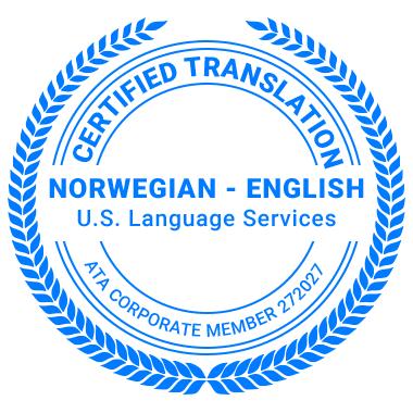Certified Norwegian Translation Services - ATA Corporate Member