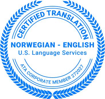 Certified Norwegian Translation