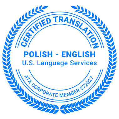 Certified Polish Translation Services - ATA Corporate Member