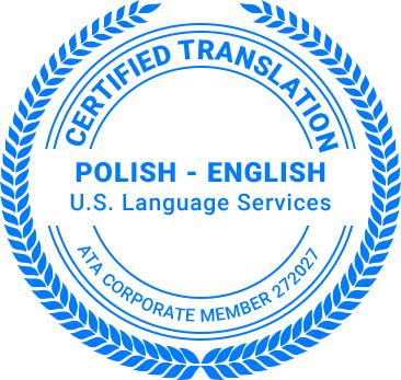 Certified Polish Translation