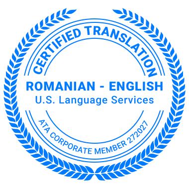 Certified Romanian Translation Services - ATA Corporate Member