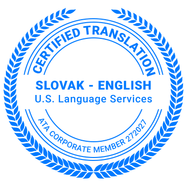 Certified Slovak Translation Services - ATA Corporate Member