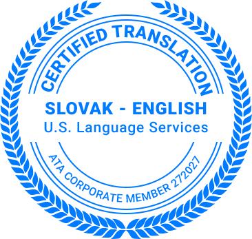 Certified Slovak Translation