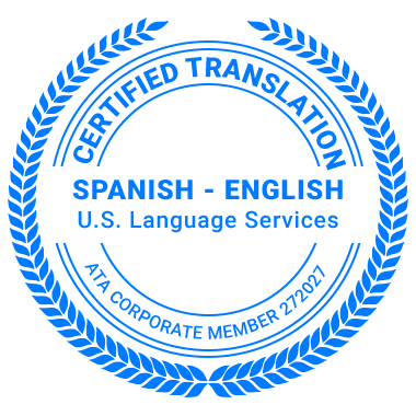 Certified Spanish Translation Services - ATA Corporate Member