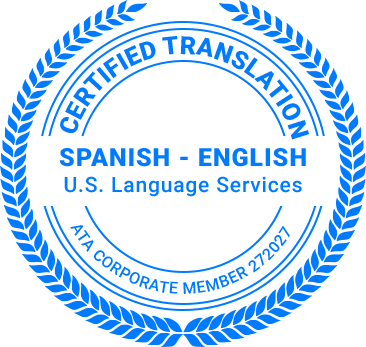 Certified Spanish Translation