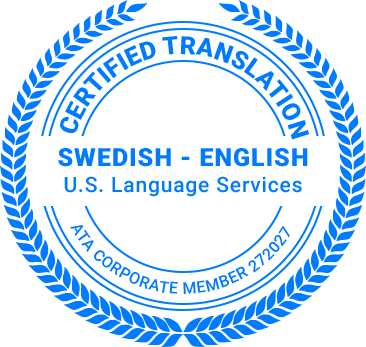 Certified Swedish Translation
