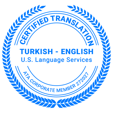 Certified Turkish Translation Services - ATA Corporate Member