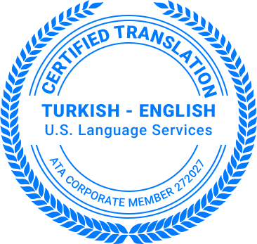 Certified Turkish Translation