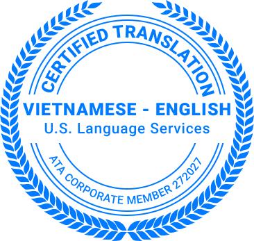 Certified Vietnamese Translation