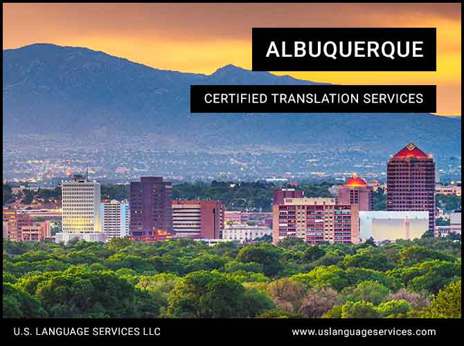 Certified Translation Services in Albuquerque, NM