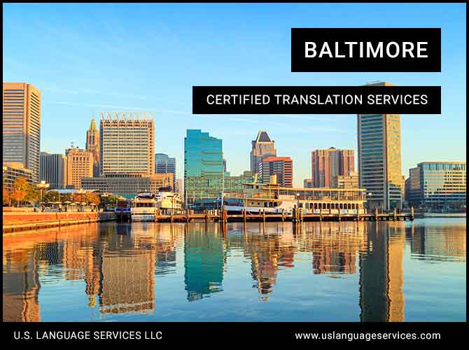 Certified Translation Services in Baltimore, MD