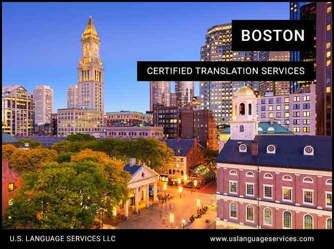 Certified Translation Services in Boston, MA