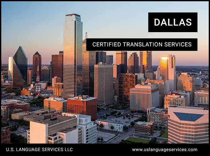 Certified Translation Services in Dallas, TX