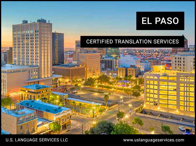 Certified Translation Services in El Paso, TX