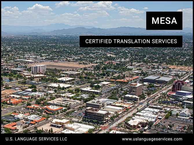 Certified Translation Services in Mesa, AZ