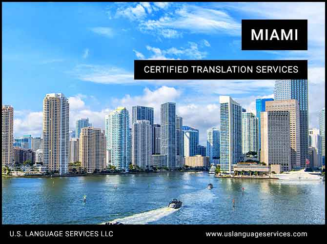Certified Translation Services in Miami, FL