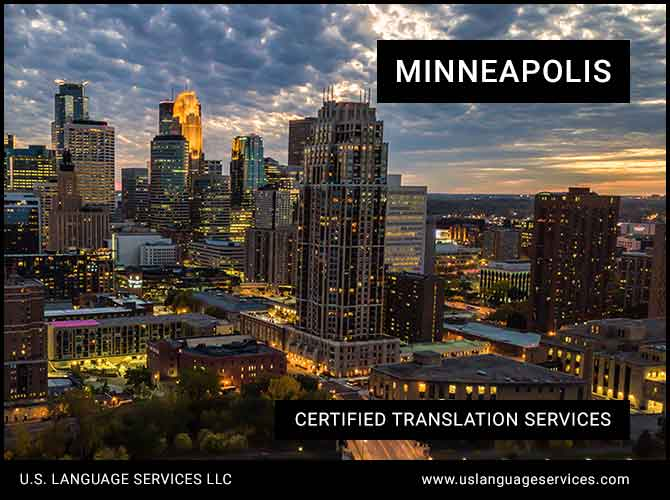 Certified Translation Services in Minneapolis, MN