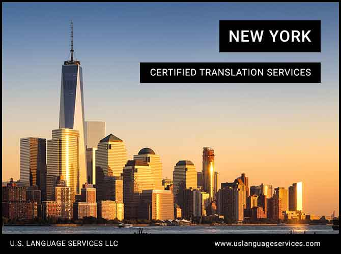 Certified Translation Services in New York, NY