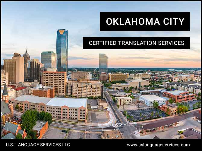 Certified Translation Oklahoma City, OK