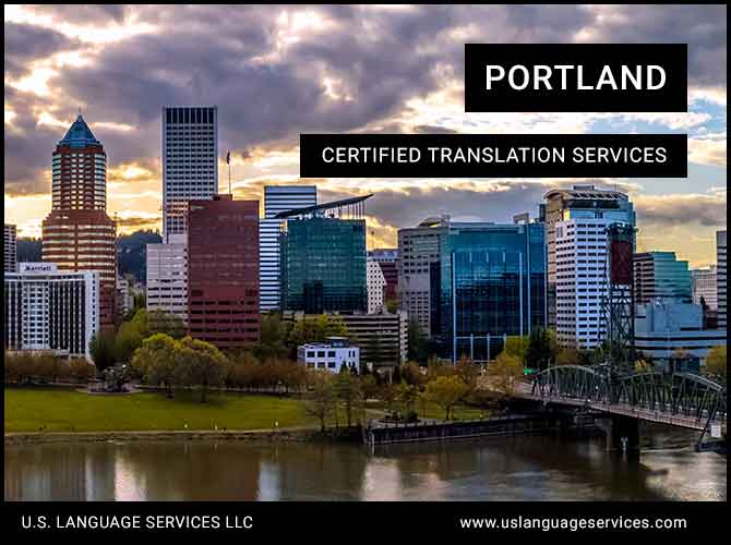 Certified Translation Services in Portland, OR