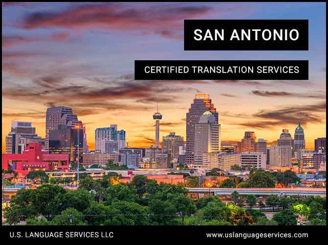 Certified Translation Services in San Antonio, TX