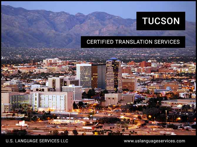 Certified Translation Services in Tucson, AZ