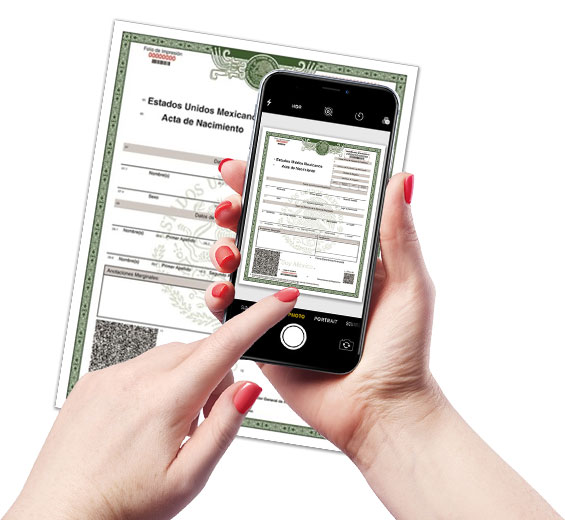 Scanned documents for translation
